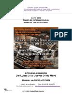Teatro de La Sensacion Taller de Experimentación Sobre El Guion Literario-mayo 018