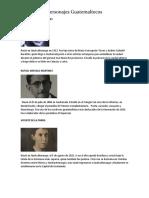 Biografía de 10 Personajes Guatemaltecos