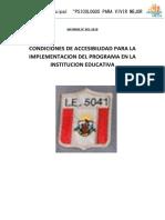 INFORME Condiciones de Accesibilidad IE. Monte Carmelo