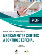 Manual Para Dispensação Para Medicamentos Sujeitos a Controle Especial