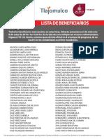 Lista de Beneficiarios TLAJOMULCO