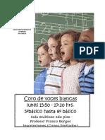 afiche coro niños