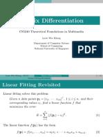 Matrix Differentiation