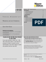 8000 8100 8200 Torsion Standard Lift Light Commercial Po QSG