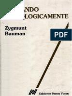 Bauman, Zigmunt - Pensando Sociologicamente