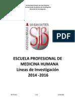Lineas de Investigacion -2014-2016 EPMH (1)