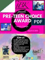 Pre Teen Choice 2018