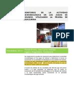 3.- Monitoreo de La Actividad Microbiologica en Los Jugos