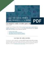 Las Mejores Redes Sociales Para Empresas