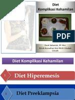 Diet Komplikasi Kehamilan Presentation