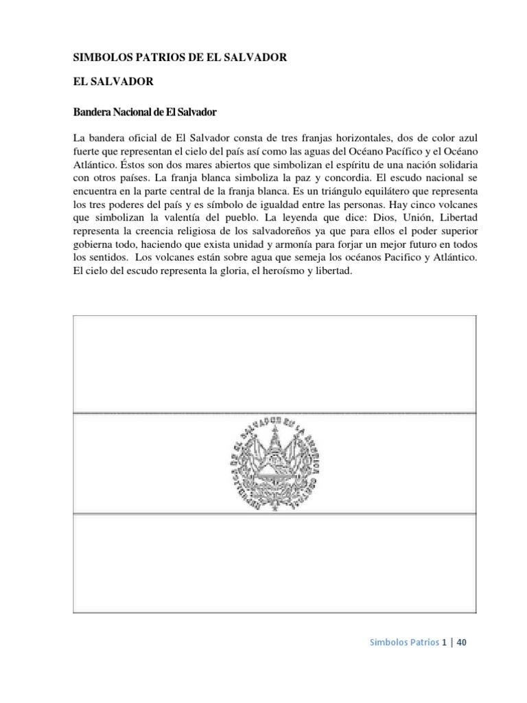 Simbolos Patrios De Centroamerica Con Imagenes Para Colorear Pdf