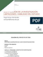JUSTIFICACION LIMITACIONES TESIS I Dr. Hugo Arroyo.pptx