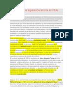 Orígenes de La Legislación Laboral en Chile