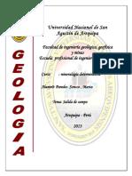Informe de Salida de Campo Mine