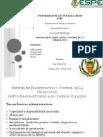 Exposicion 1. Sistema de Planificacion y Control de La Produccion