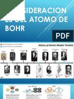 Consideraciones Del Atomo de Bohr