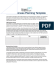 PMO Business Planning Template