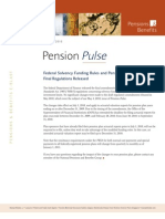 Pension Pulse - July 2, 2010 Federal Solvency Funding Rules and Pension Investments Limits - Final Regulations Released