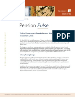 Pension Pulse - May 4, 2010 - Federal Government Tweaks Pension Solvency Funding Rules and Investment Limits