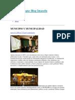 Municipio y Muncipalidad