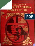Historia de la Guerra europea  Vol. I Blasco Ibañez