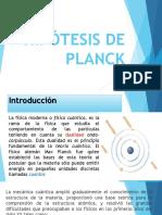 Hipótesis de Planck