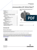 Instruction Manual Transductor Electroneumático i2p 100 de Fisher Fisher i2p 100 Electro Pneumatic Transducer Spanish Universal Es 125020