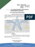 Saul Alarcon Castro Apersonamiento en La Fiscalia de Puquio