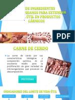 Uso de Ingregredientes Antimicrobianos Para Extender La Vida Util de Productos Carnicos