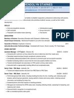 resume - gwendolyn starnes
