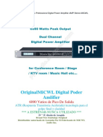 2 Channel 6000 Watts Professional Digital Power Amplifier AMP Stereo MICWL Audio GB350