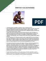 Características Del Hombre Primitivo