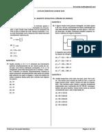 Lista Matemática Vunesp 2015