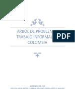 Arbol de Problemas Trabajo Informal en Colombia