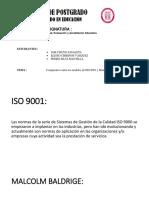 Comparativo Iso 9001 - Malcom