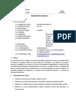Syllabus de Matemática Básica 2