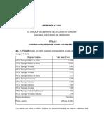 Código Municipal. Ordenanza N 12621 Pcia de Córdoba Argentina