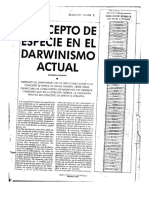 Concepto de Especie en El Darwinismo Actual