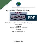 Visita Técnica a Envasadora de GLP Guaya Gas