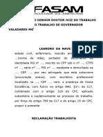 RECLAMAÇÃO TRABALHISTA