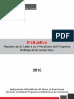 Registro de La Cartera de Inversiones Del Programa