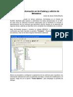 4.2.Visualizar Información en ArcCatalog y Edición de Metadatos