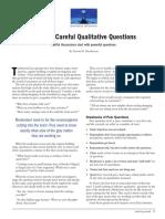 Qualitative Reflections