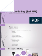 Procure to Pay (SAP MM)