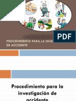 Procedimiento y Metodologia de Investigacion de Accidentes