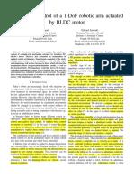 Admittancecontrolofa1-DoFroboticarmactuatedbyBLDCmotor