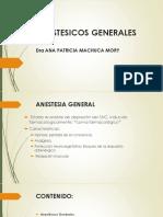 Anestesicos Generales