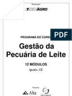 Programa do curso Gestão da Pecuária de Leite - Iguatu/CE