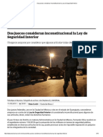 Dos Jueces Consideran Inconstitucional La Ley de Seguridad Interior