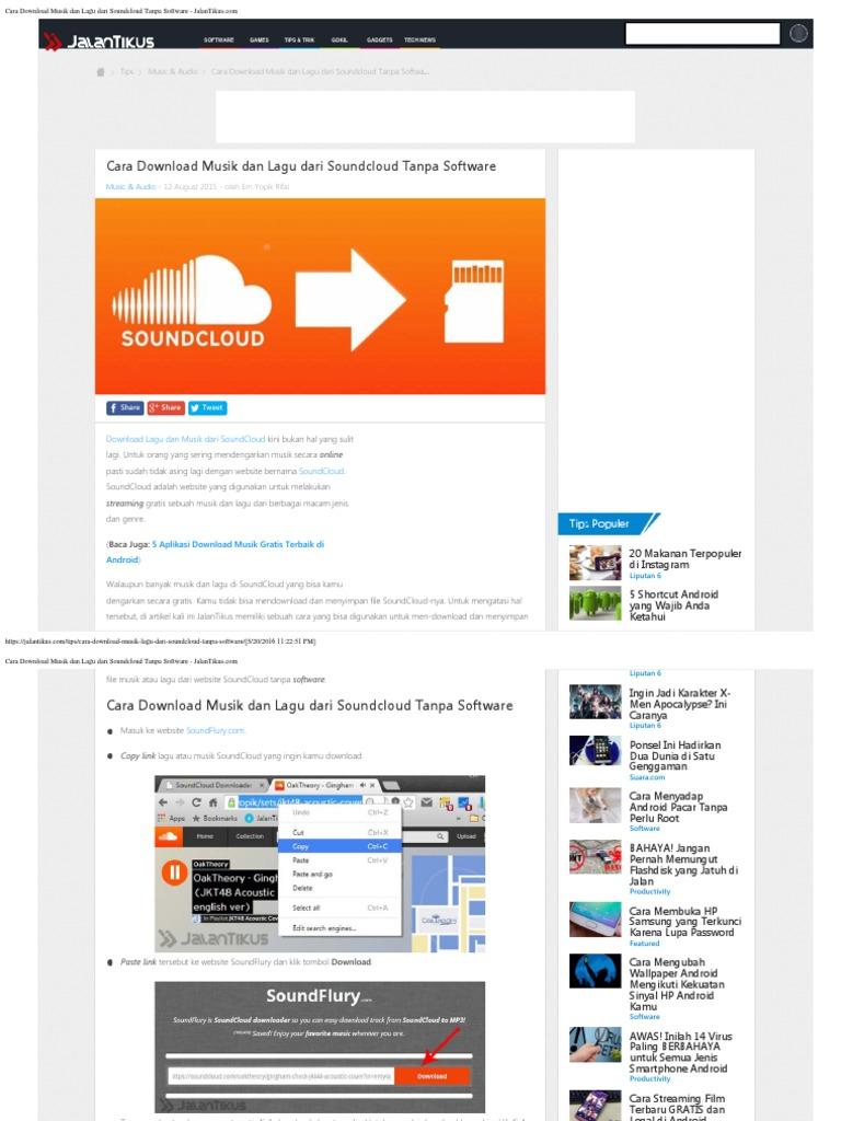 Cara Download Musik Dan Lagu Dari Soundcloud Tanpa